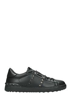 Valentino-Sneakers Rockstud in pelle nera