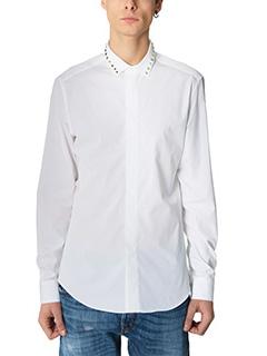 Valentino-Camicia in popeline di cotone bianco