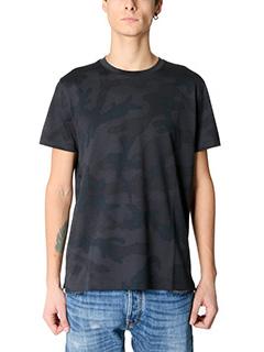 Valentino-T-Shirt Camouflage in cotone nero