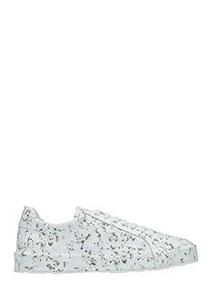 Jil Sander-Sneakers in pelle bianca