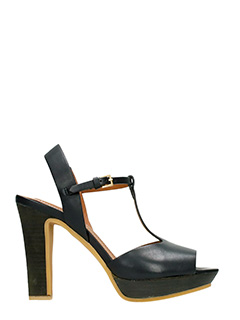 See by Chlo�-Akio  black leather sandals