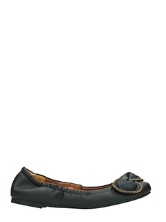 See by Chlo�-Nevada black leather ballet flats