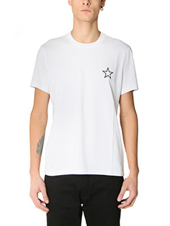 Givenchy-T-Shirt Slim Star in cotone bianco