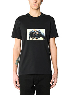 Givenchy-T-Shirt Slim Rottweiler in cotone nero