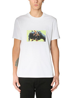 Givenchy-T-Shirt Slim Rottweiler in cotone bianco