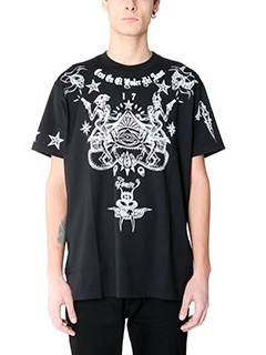 Givenchy-T-Shirt Over Chicano in cotone nero