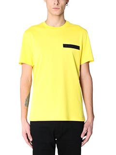 Givenchy-T-Shirt Regular Logo  in cotone giallo