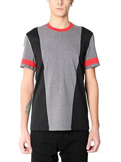 Givenchy-T-Shirt Slim Stars in cotone nero grigio rosso