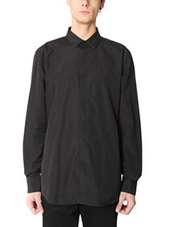 Givenchy-Camicia in popeline di cotone nero