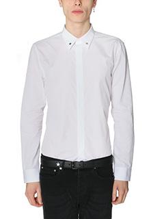 Givenchy-Camicia in popeline di cotone bianco