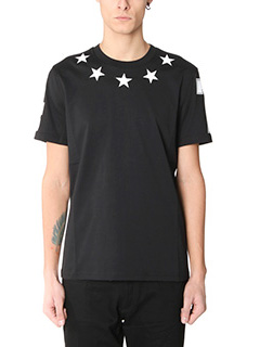 Givenchy-T-Shirt Regular Star in cotone nero