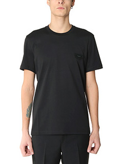 Givenchy-T-Shirt Slim Logo in cotone nero