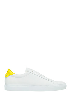 Givenchy-Sneakers Low Urban Street in pelle bianca gialla