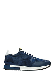 Givenchy-Sneakers Runner Active in pelle e tessuto navy