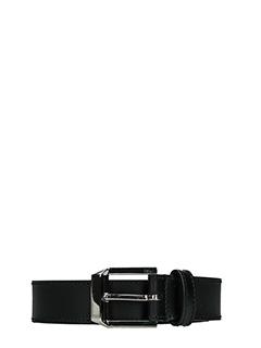 Givenchy-Cintura Pyramidal Silver in pelle nera