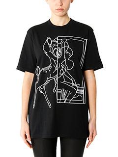 Givenchy-T-Shirt Bambi in cotone nero bianco