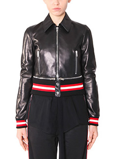 Givenchy-black leather outerwear