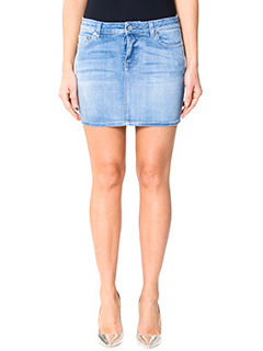 Givenchy-blue cotton skirt