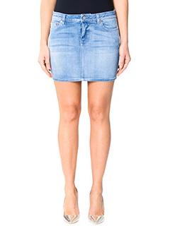 Givenchy-Minigonna in denim azzurro