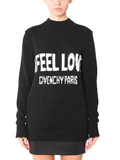 Givenchy-black cotton knitwear