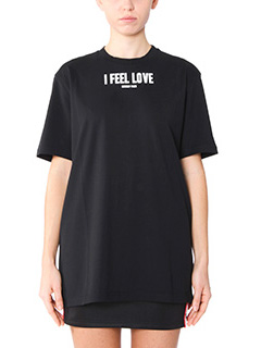 Givenchy-T-Shirt I Feel Love in cotone nero