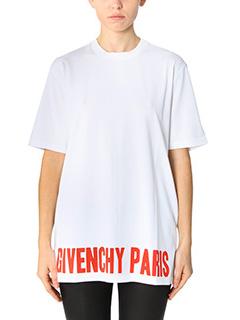 Givenchy-T-Shirt Givenchy Paris in cotone bianco
