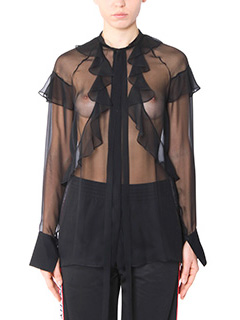 Givenchy-Blusa in seta nera