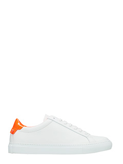 Givenchy-Sneakers Low Urban Street in pelle bianca arancio