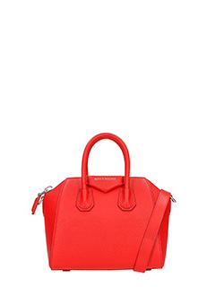 Givenchy-Borsa Antigona Mini in pelle rossa