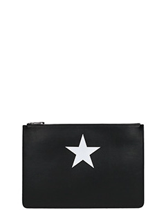Givenchy-Pandoara pouc i black leather clutch