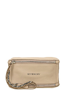 Givenchy-Pandora wristlet pink leather clutch