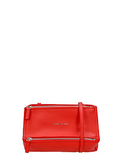 Givenchy-Borsa Pandora Mini in pelle rossa