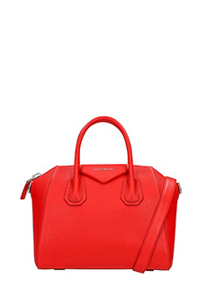 Givenchy-Borsa Antigona Small in pelle rossa