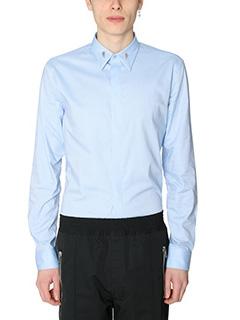 Givenchy-Camicia in popeline di cotone azzurro