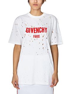 Givenchy-T-Shirt Logo in cotone bianco