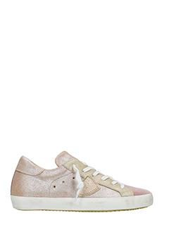 Philippe Model-Sneakers Classic in pelle e camoscio rosa beige
