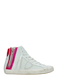 Philippe Model-Sneakers Bike in pelle bianca