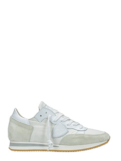 Philippe Model-Sneakers Tropez in camoscio bianco