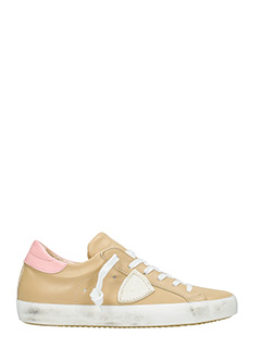 Philippe Model-Sneakers Classic in pelle cuoio rosa