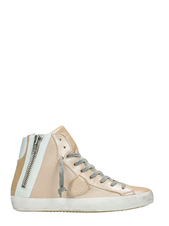 Philippe Model-Sneakers Bike in pelle rosa