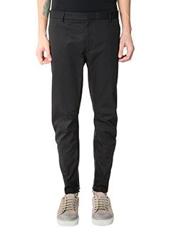 Lanvin-Pantaloni Biker Round Cut  in cotone nero