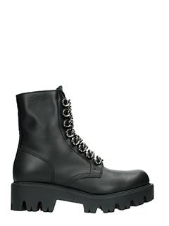 Le DangeRouge-Irina black leather combat boots