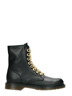 Le DangeRouge-Amelie  black leather combat boots