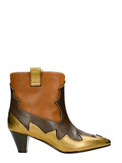 Marc Ellis-bronze leather ankle boots