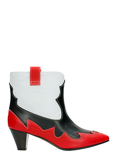 Marc Ellis-red leather ankle boots