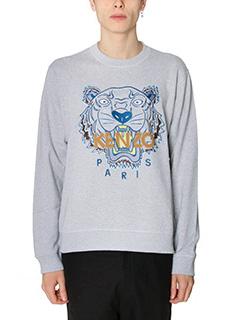 Kenzo-Felpa Tiger  in cotone grigio