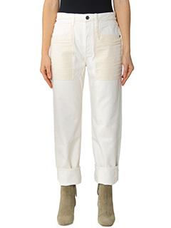 Helmut Lang-white cotton jeans