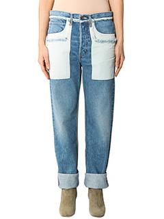 Helmut Lang-blue cotton jeans