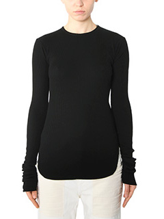 Helmut Lang-black cotton knitwear