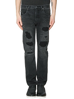 Helmut Lang-Jeans Jean B Destroy in denim nero